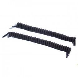 Lacets élastiques torsadés noirs