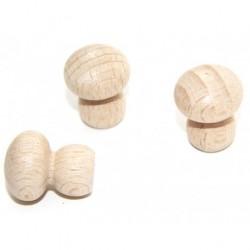 Pions en bois naturel pour les jeux
