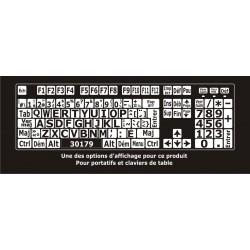 Autocollants grands caractères pour clavier