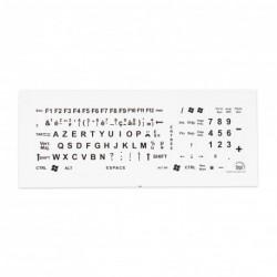Autocollants grands caractères pour clavier d'ordinateur