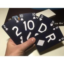 Jeu de 54 cartes XL, Contraste inversé